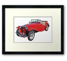 Red MG Convertible Antique Car Framed Print