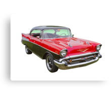Red and Black 1957 Chevy Belair Canvas Print