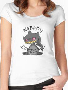 Banette - Nobody loves me (white) Women's Fitted Scoop T-Shirt
