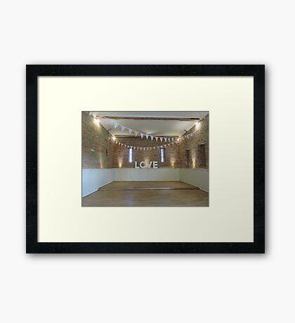 LOVE the dancefloor  Framed Print
