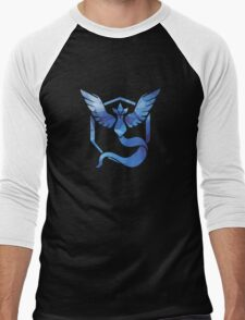 Pokémon Go Team Mystic v. Fractal  Men's Baseball ¾ T-Shirt
