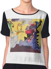 Kandinsky Reprise Chiffon Top