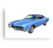 Blue 1967 Buick Riviera Muscle Car Canvas Print