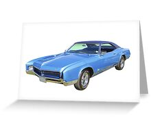 Blue 1967 Buick Riviera Muscle Car Greeting Card