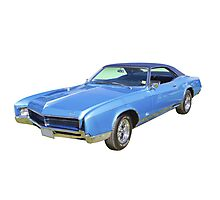 Blue 1967 Buick Riviera Muscle Car Photographic Print