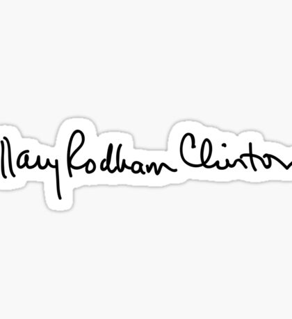 Hillary Clinton Signature Sticker Sticker
