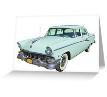 1956 Ford Custom Line Antique Car Greeting Card