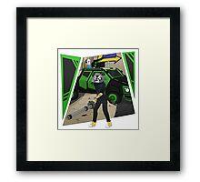 TheChaptenRex AKA The Mini-Gun Man Framed Print