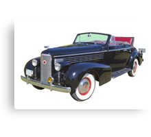 Black 1938 Cadillac Lasalle Antique Car Canvas Print