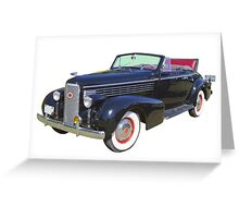 Black 1938 Cadillac Lasalle Antique Car Greeting Card