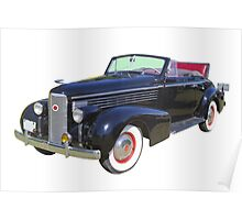 Black 1938 Cadillac Lasalle Antique Car Poster