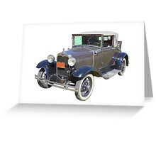 Model A Ford Roadster Convertible Antique Car Greeting Card