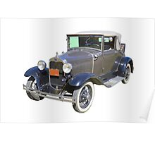 Model A Ford Roadster Convertible Antique Car Poster