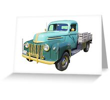 Old Flat Bed Ford Work Truck Greeting Card