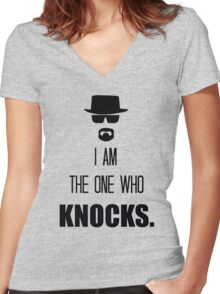 -BREAKING BAD- I Am The One Who Knocks Women's Fitted V-Neck T-Shirt