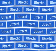 Utrecht verkeersbord wallpaper Sticker
