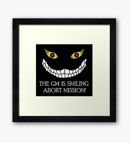 The GM Is Smiling Framed Print