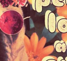 Flowered Hippie Pug Sticker