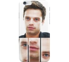 Sebastian Stan face collage iPhone Case/Skin