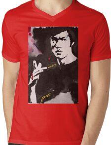 Bruce Lee Mens V-Neck T-Shirt