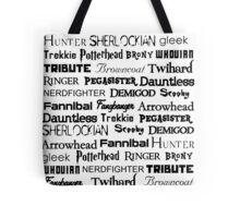 Fandoms Tote Bag