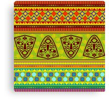 Multi Colored African Patterned Products Canvas Print