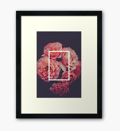 The 1975 Floral Rectangle Framed Print