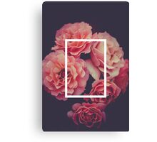 The 1975 Floral Rectangle Canvas Print