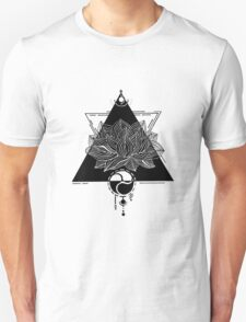 Triangle Lotus (black edition) Unisex T-Shirt