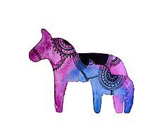 Dala horses 2 by Laura Carpenter