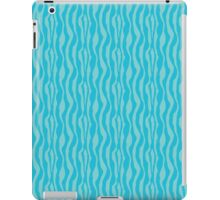 Blue Zebra Print Pattern iPad Case/Skin