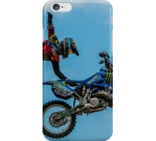 Following his bike in the sky. iPhone Case/Skin