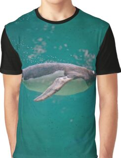 Swimming with Penguins Graphic T-Shirt