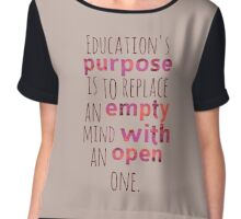 Educate Open Mind Chiffon Top