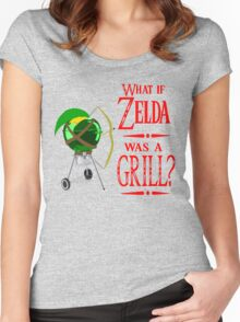 What if Zelda was a Grill? Women's Fitted Scoop T-Shirt