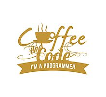 coffee and code Photographic Print