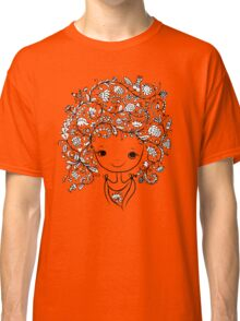 Cute girl with floral hairstyle Classic T-Shirt