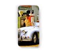 English sportscar at 1950s service station. Samsung Galaxy Case/Skin