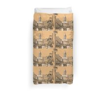 Roofs in Transylvania Duvet Cover