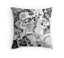 Orchid Impressions - Floral Geometry Study  Throw Pillow