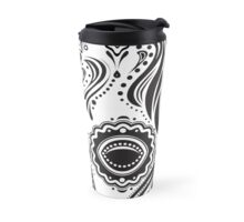Dia de los Muertos That Girl Skull Travel Mug