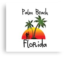 Palm Beach Florida. Canvas Print