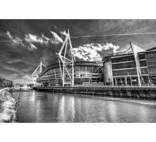 The Principality Stadium Monochrome Photographic Print