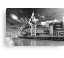 The Principality Stadium Monochrome Canvas Print