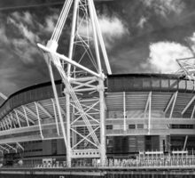 The Principality Stadium Monochrome Sticker