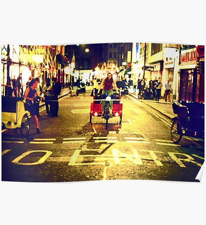 Rickshaw Riders (London Soho) Poster