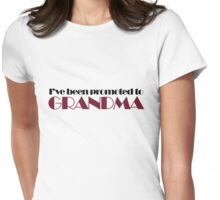 Grandma to be Womens Fitted T-Shirt