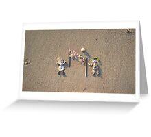 Beach Vollyeball Greeting Card