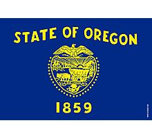 Oregon State Flag Photographic Print