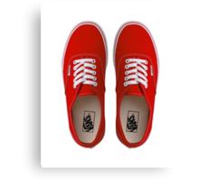 Vans - Red Canvas Print